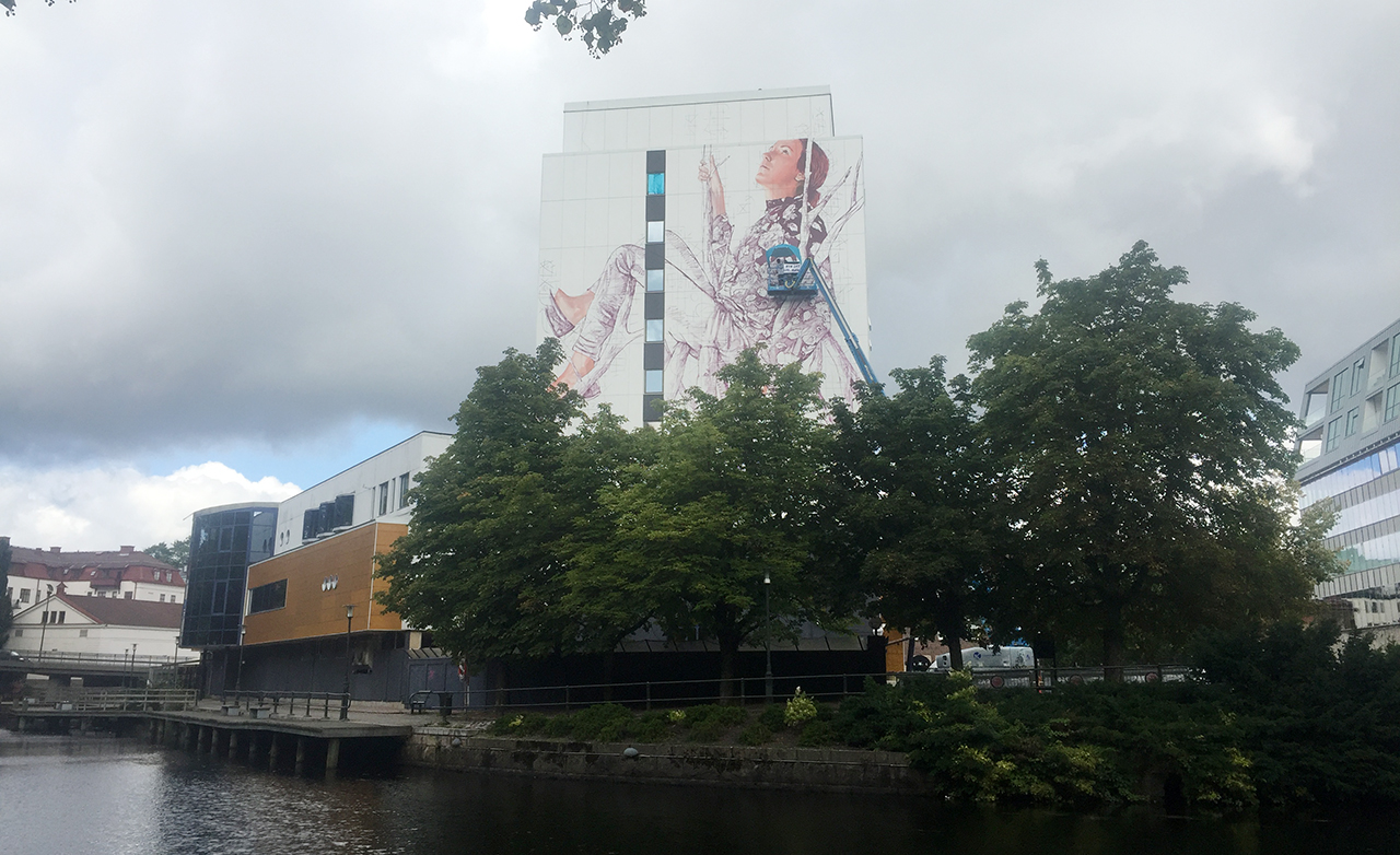 The city of Borås is once again being transformed into a gigant outdoor gallery